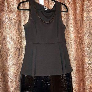 Catherine Malandrino Dresses - Black peplum dress